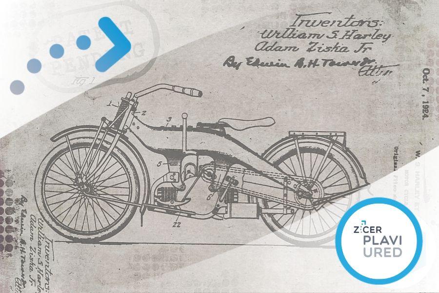 patent dizajn zig plavi ured
