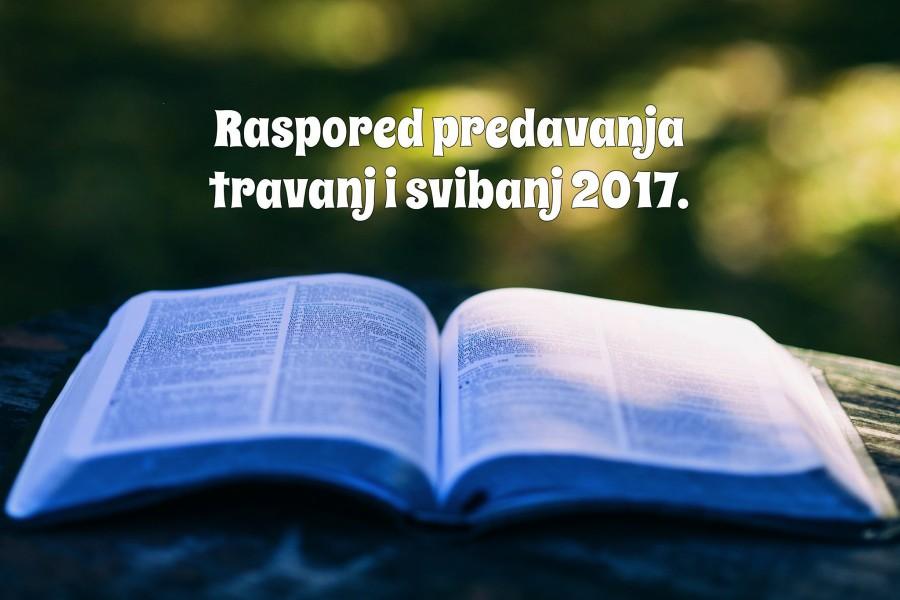 raspored travanj svibanj 2017