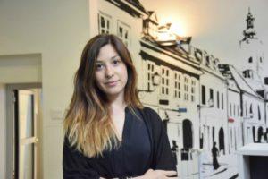 Anika Jarc na stručnoj praksi u Plavom uredu