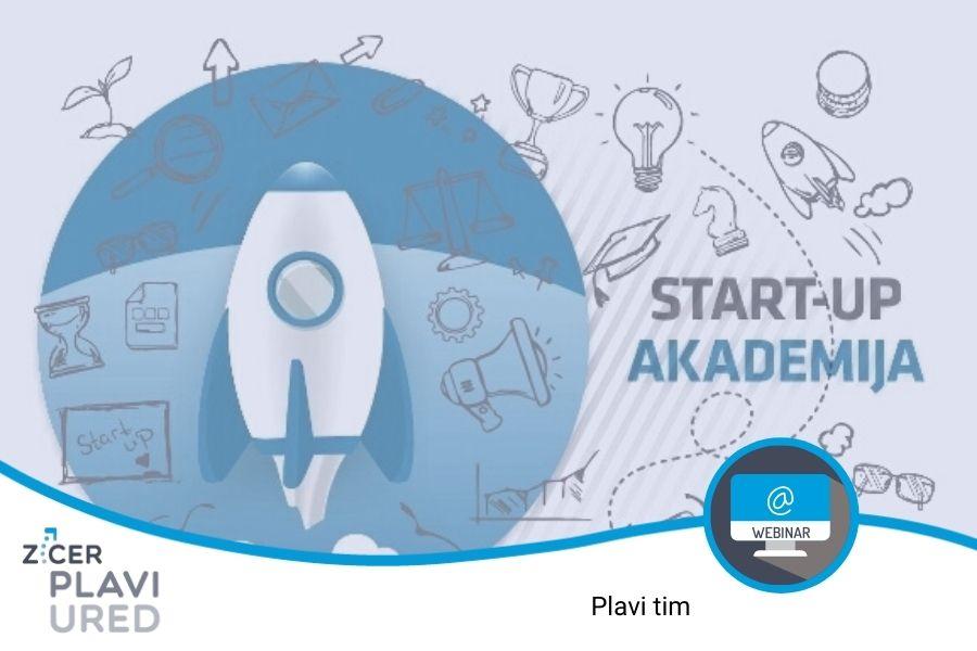 webinar startup akademija ZICER Plavi ured