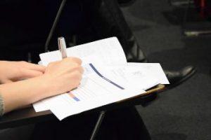 postavljanje ciljeva biljeske plavi ured