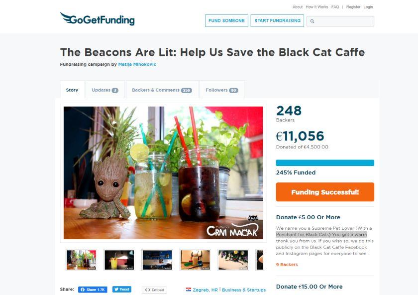 crni macak go get funding kampanja